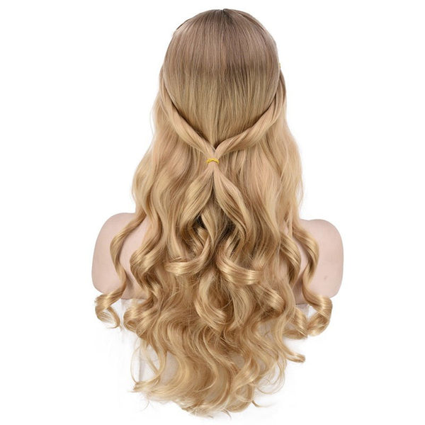 Gradient Ramp Braid Big Wave Long Wig