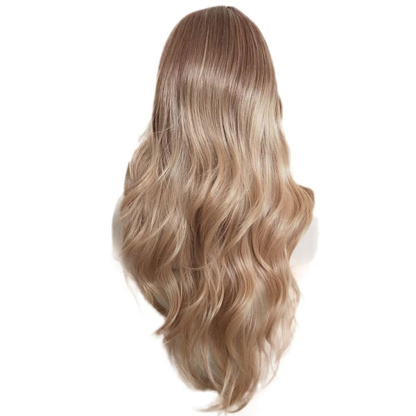 Gradient Ramp Central Parting Hair Style Long Wig