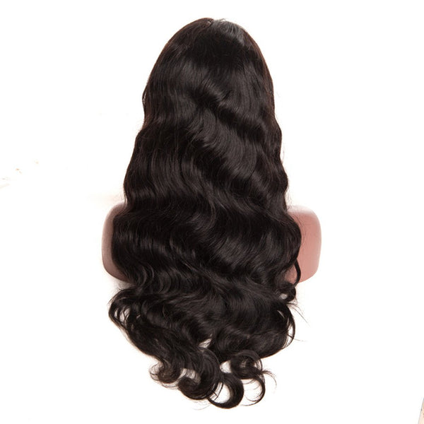 Free Part Body Wave Long Lace Front Human Hair Wig Bleached Knots
