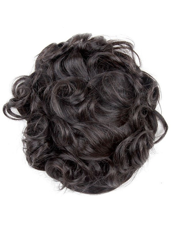 Brazilian Human Hair Curly Lace Toupee