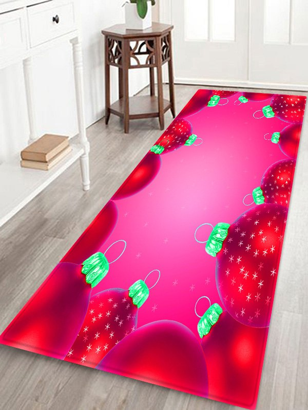 Christmas Snowflake Ball Pattern Non-slip Area Rug