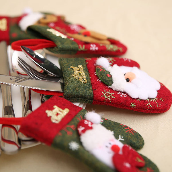 Christmas Finger Set Knife and Fork Pouch