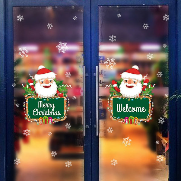 Santa Claus Window and Window Stickers XH7245