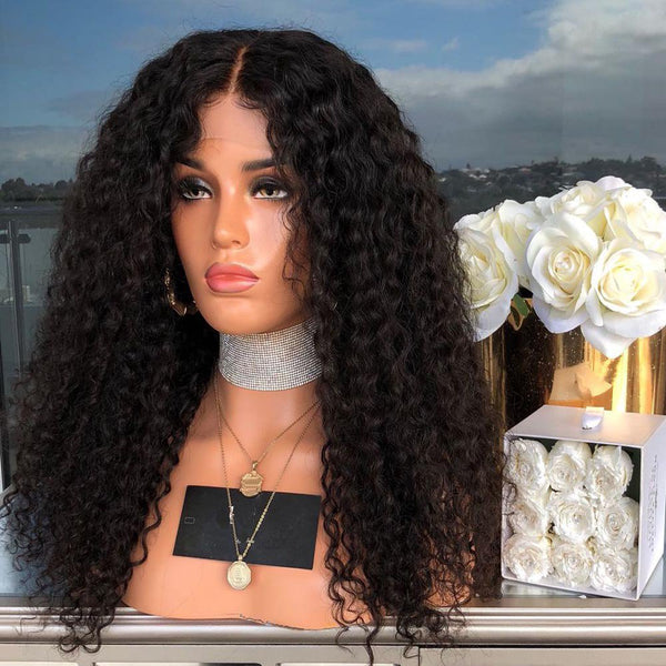 silk Small Roll Long Curly Chemical Fiber Hair Wig Black Fashion Classic Wig