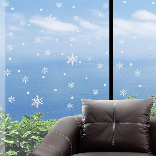 Merry Christmas Glow Snowman Wall Stickers Living Room Luminous Stickers