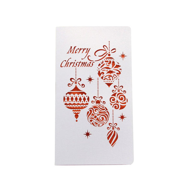 M-006 simple lantern Christmas cards hollowed lace cards mini cards festival