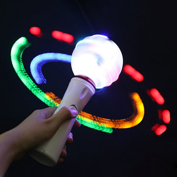 Christmas LED Electronic Children Glowing Spinning Ball Toy