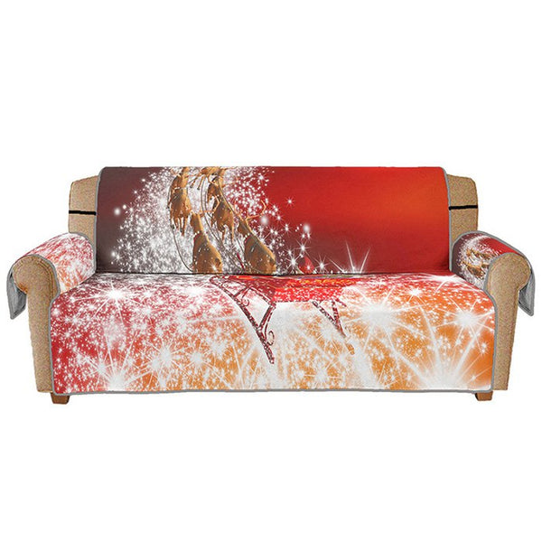 3D Digital Printed Sofa Cover Christmas Series Sleigh Pattern Cushion