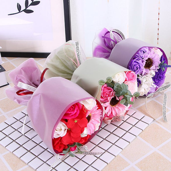 Christmas Valentine's Day Birthday Gift Bouquet Soap Artificial Flower