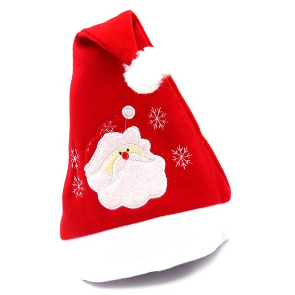 Christmas Decoration Flannel Embroidered Hat