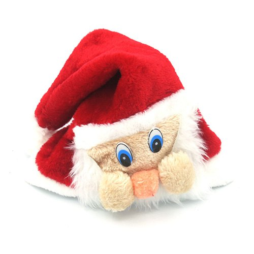 Cloth Christmas Hat with Face Plush