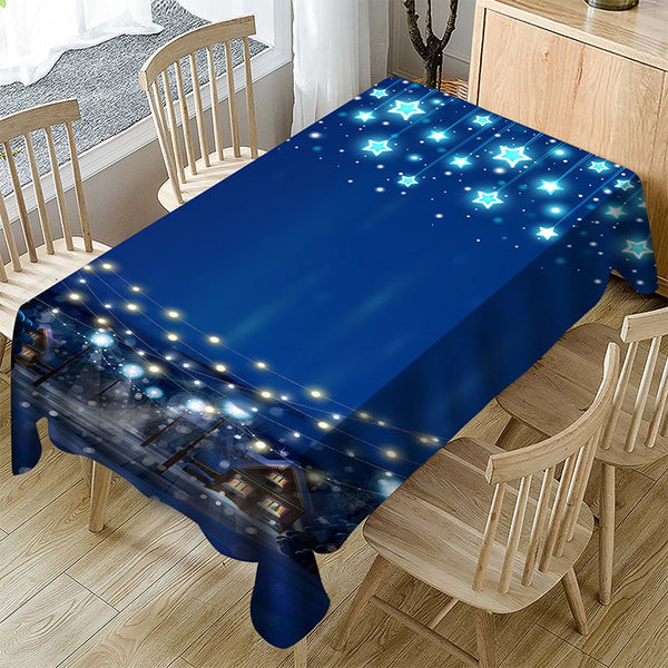 Polyester Household Christmas Tablecloth for Decoration