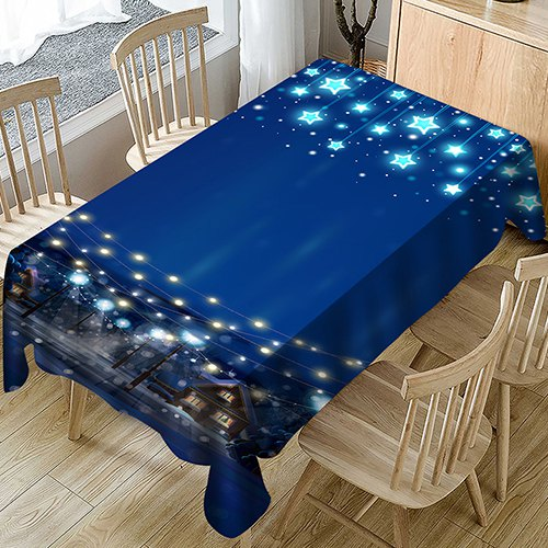 Polyester Household Christmas Tablecloth Decorative Cloth 140 x 140cm
