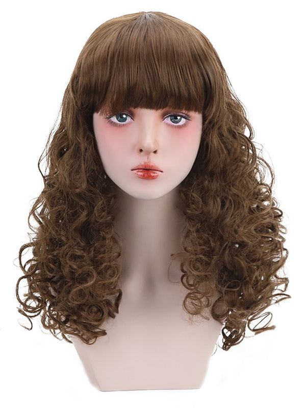 Long Full Bang Fluffy Curly Synthetic Wig