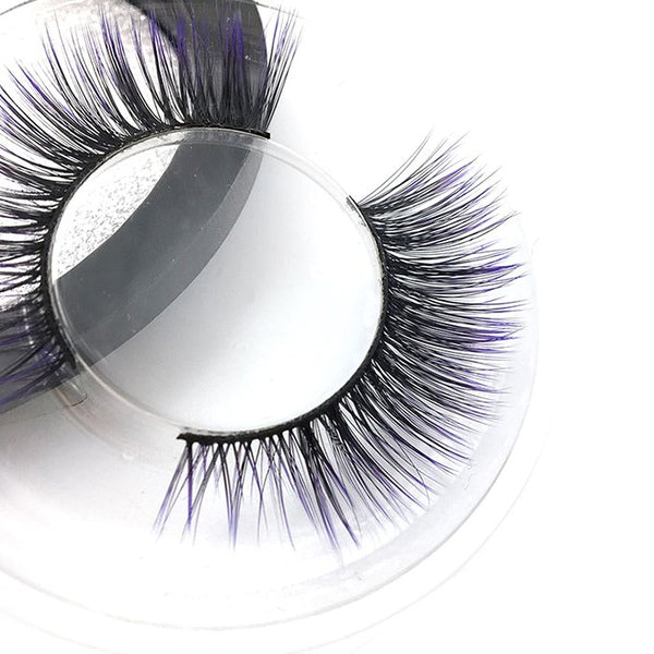 Fashion 3D Color Gradient Thick Curling False Eyelashes