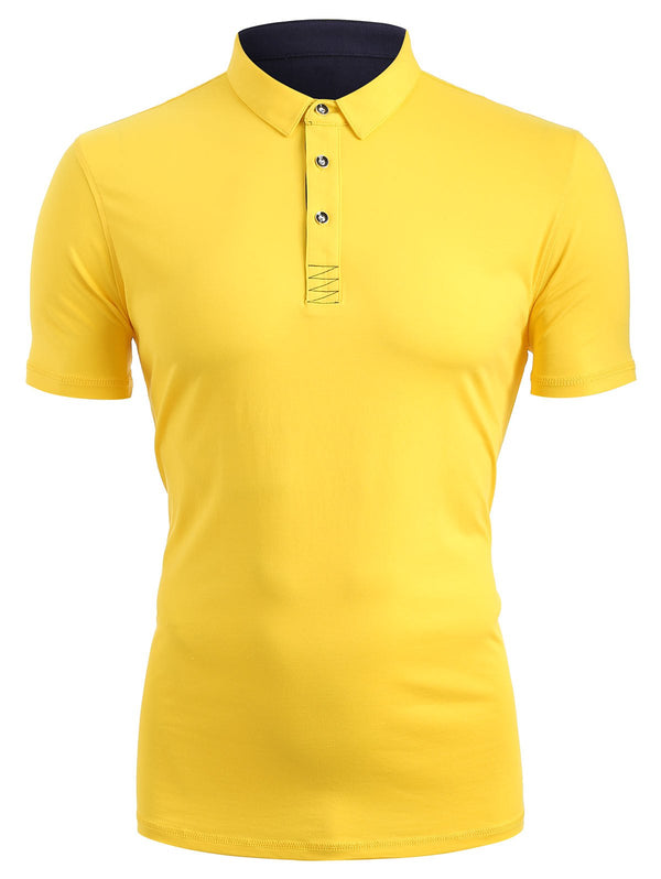 Short Sleeve Half Button T-shirt