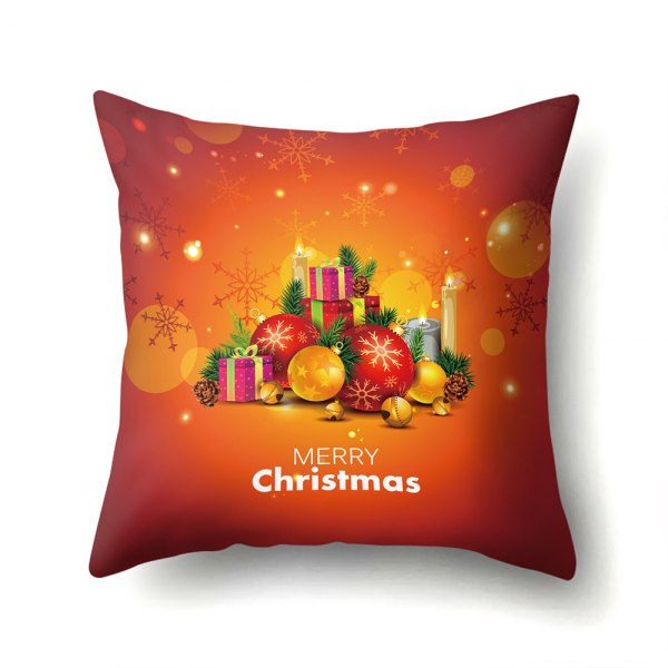 Christmas Sleigh Santa Elm Pillow Case