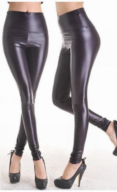 Leggings female nine points high waist tight pants
