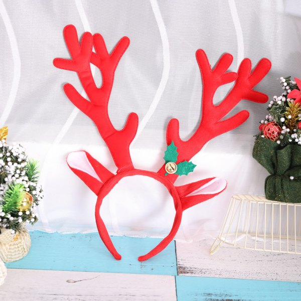 Christmas Bell Big Antler Headband