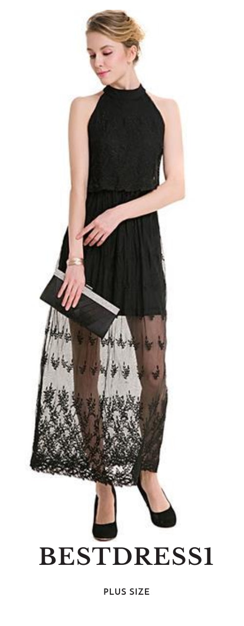 Bare Shoulder Embroidered Lace Dress