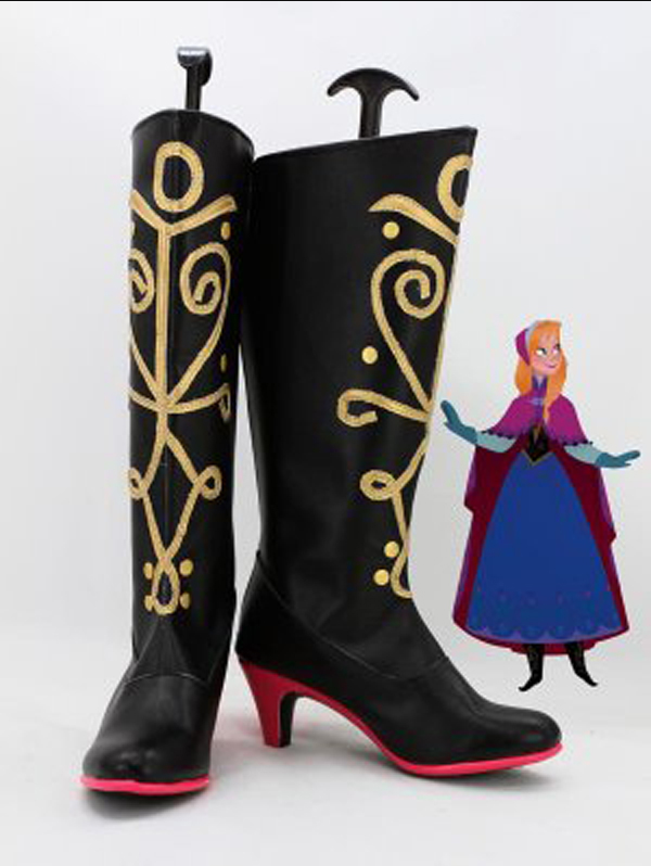 Princess Anna of Arendelle Hight Heel  Boots Women  Costume Party Shoes Custom Made Boots