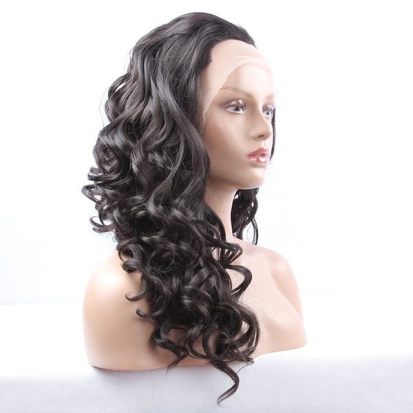 Fashion Long Synthetic Women's Curly Lace Front Wig