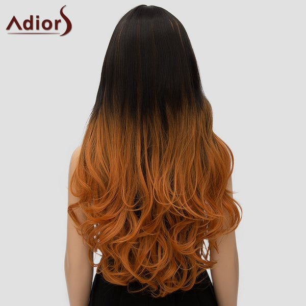 Women's Adiors Curly Long Ombre High Temperature Fiber Cosplay Wig