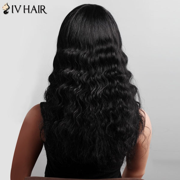 Shaggy Curly Long Siv Hair Capless Stunning Side Bang Human Hair Wig For Women