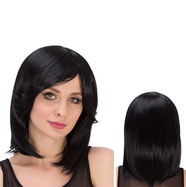 Medium Side Bang Straight Fascinating Heat Resistant Fiber Wig