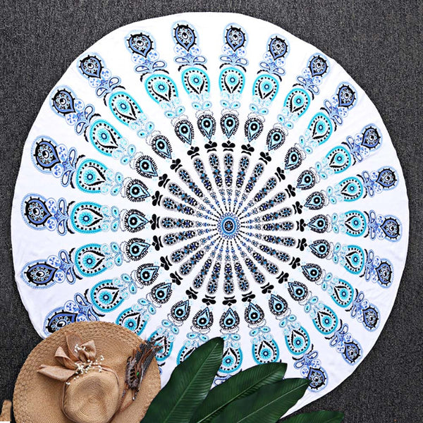 Trendy Sandless Round Women Beach Mat