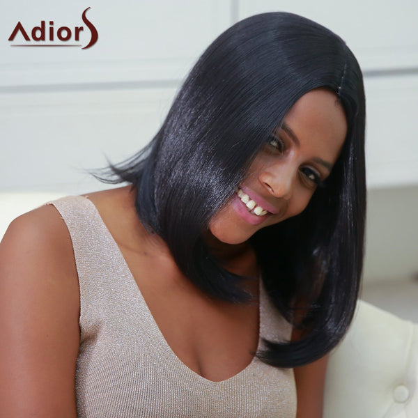 Medium Side Parting Straight High Temperature Fiber Wig