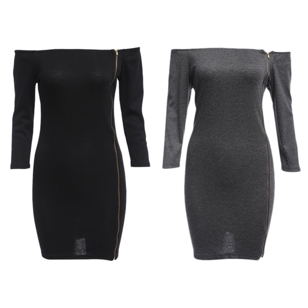Sexy Off The Shoulder Sheath Mini Dress for Women