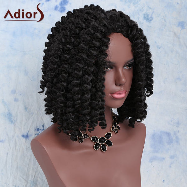 Fashion Short Dark Brown Afro Curly Women's Synthetic Hair Wig