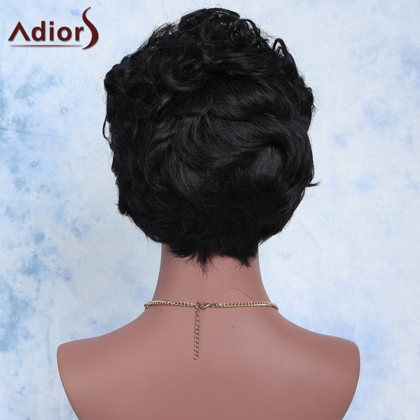 Curly Short High Temperature Fiber Wig