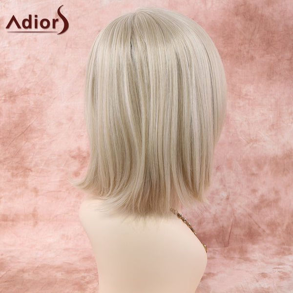 Short Straight Neat Bang Heat Resistant Fiber Wig