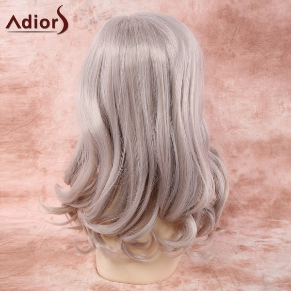 Medium Side Parting Wavy Synthetic Wig