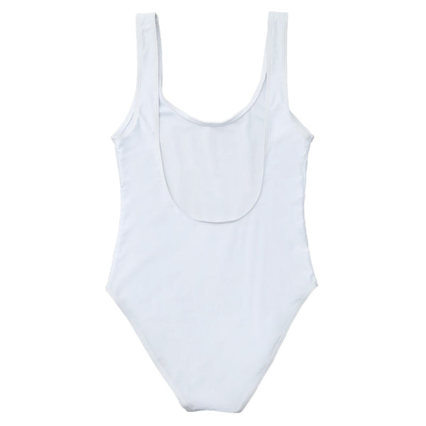 Letter Unlined One Piece Swimsuit