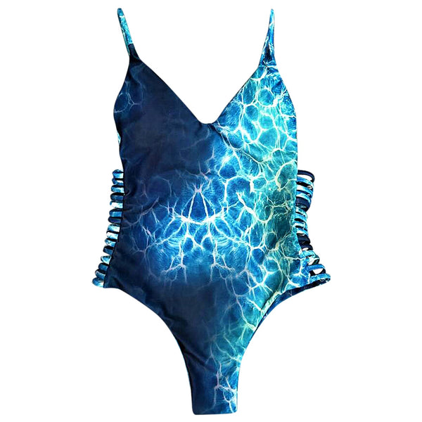 Print One Piece Swimwear