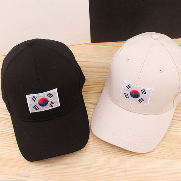 Fashion Korean flag cap cotton baseball cap casual sports cap