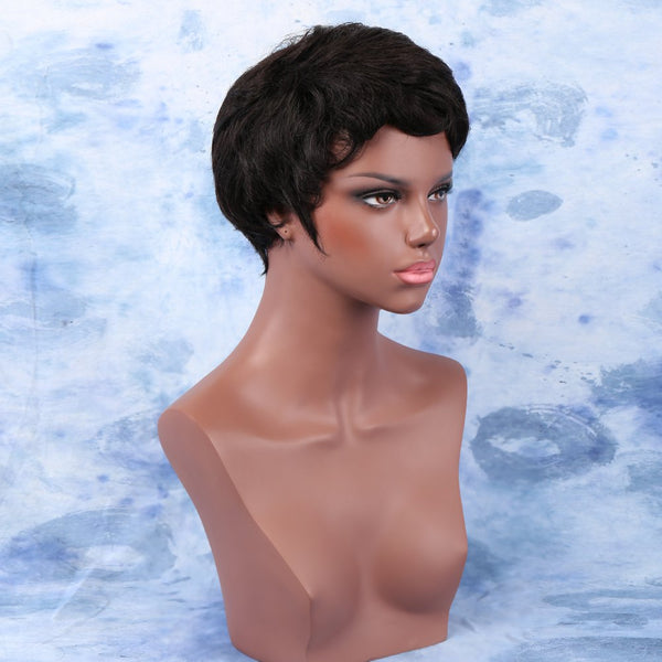 Short Full Bang Curly Capless High Temperature Fiber Wig
