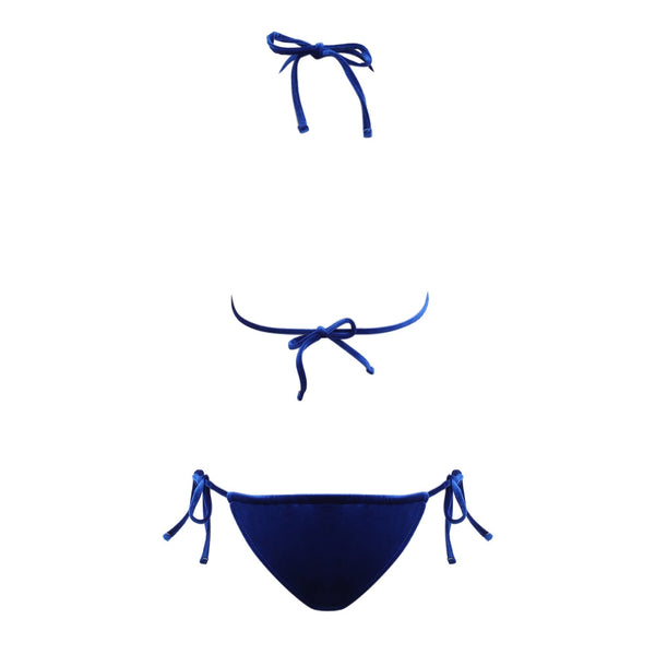 Halter Tie String Triangle Velvet Swimsuit Women Bikini