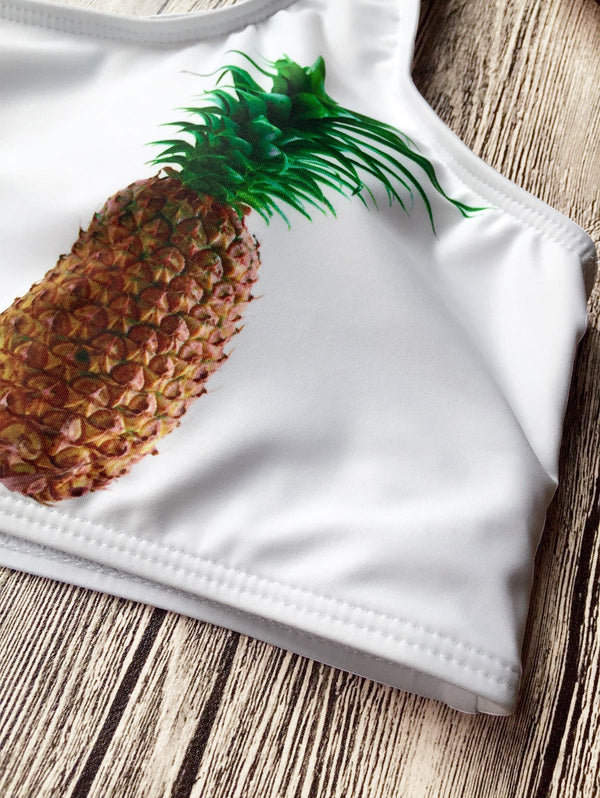Argyle High Waist Pineapple Bathing Suit