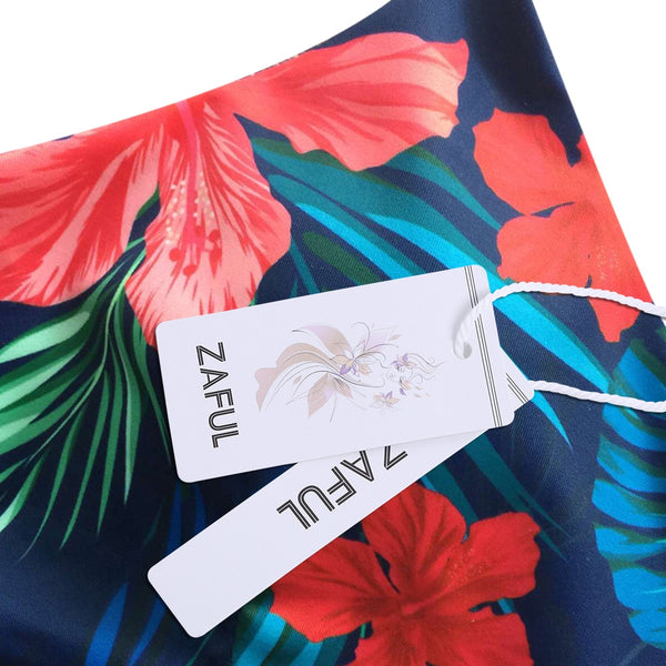 Tropical Print Bikini Bathing Suit