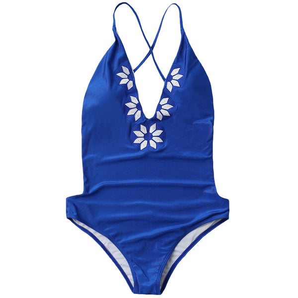 Stylish Embroidered Women Swimwear