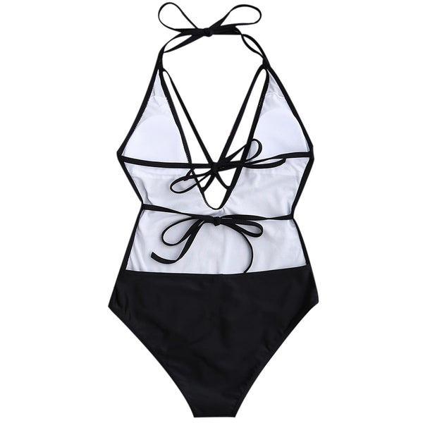 Strappy Plunge Women Swimwear