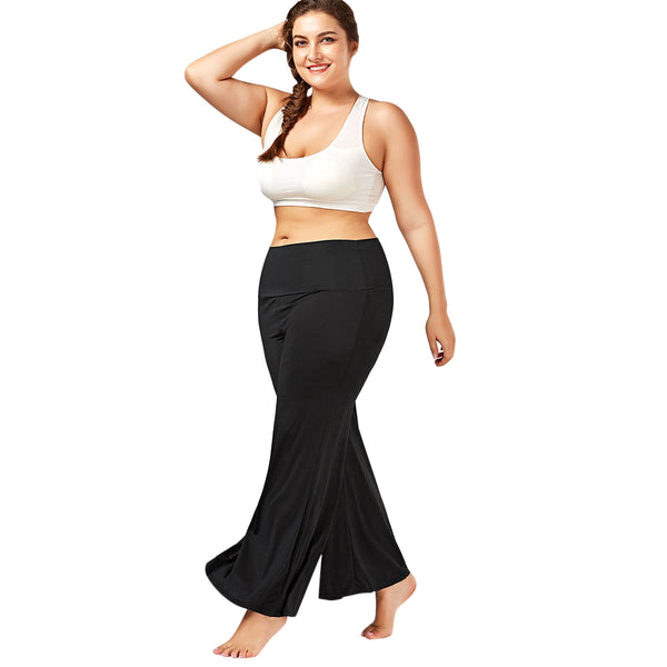Plus Size High Rise Maxi Palazzo Pants