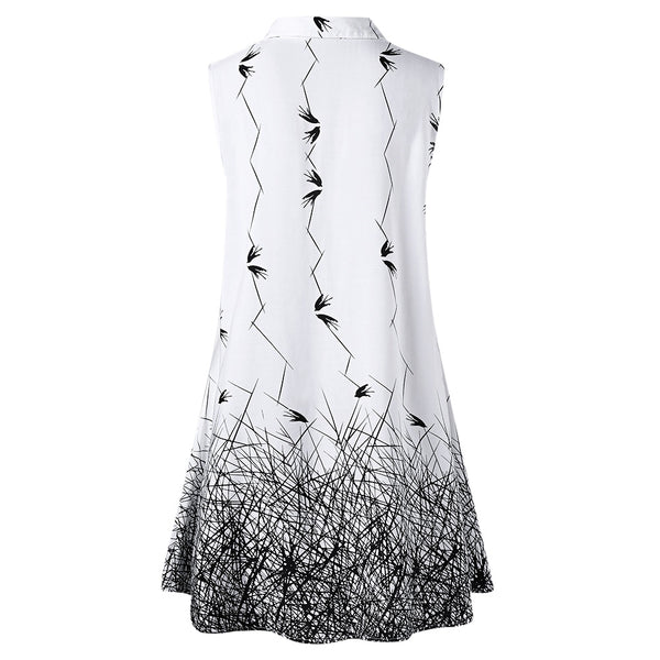 Plus Size Sleeveless Graphic Longline Blouse