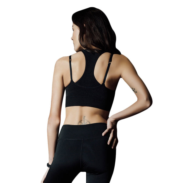 Stylish Spaghetti Strap Layered Pad Women Sports Bra
