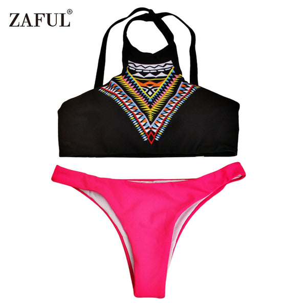 Zaful Fashion Printing Swimwear Bikini for Ladies