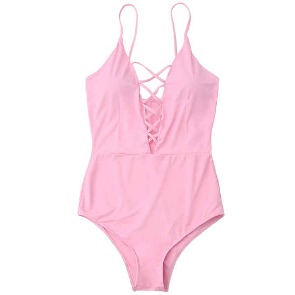 Criss Cross One Piece Swimsuit